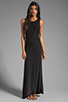 Image 2 of dolan Classic Slub Maxi Dress in Black