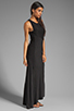 Image 3 of dolan Classic Slub Maxi Dress in Black
