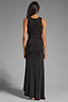 Image 4 of dolan Classic Slub Maxi Dress in Black