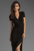 Image 1 of dolan Slub Jersey Asymmetrical Dress in Black