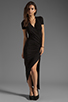 Image 2 of dolan Slub Jersey Asymmetrical Dress in Black
