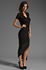 Image 3 of dolan Slub Jersey Asymmetrical Dress in Black