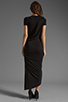 Image 4 of dolan Slub Jersey Asymmetrical Dress in Black