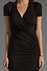 Image 5 of dolan Slub Jersey Asymmetrical Dress in Black