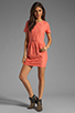 Image 2 of Dolce Vita Sarus Raised Lace Short Sleeve Dress in Coral