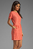 Image 3 of Dolce Vita Sarus Raised Lace Short Sleeve Dress in Coral