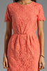 Image 5 of Dolce Vita Sarus Raised Lace Short Sleeve Dress in Coral