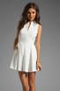 Image 1 of Dolce Vita Ashelle Snake Jacquard Dress in White