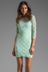 Image 1 of Dolce Vita Cat Crochet Lace Long Sleeve Dress in Mint
