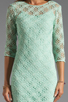 Image 5 of Dolce Vita Cat Crochet Lace Long Sleeve Dress in Mint