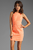Image 1 of Dolce Vita Estefania Neon Dots Tank Dress in Neon Orange