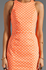 Image 5 of Dolce Vita Estefania Neon Dots Tank Dress in Neon Orange