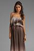 Image 1 of Dolce Vita Fonda Beachscape Strapless Maxi Dress in Brown