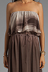 Image 5 of Dolce Vita Fonda Beachscape Strapless Maxi Dress in Brown