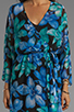 Image 5 of Dolce Vita Rexxy Hawaiian Floral Bell Sleeve Dress in Blue/Green
