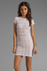 Image 1 of Dolce Vita Ren Zigzag Crochet Short Sleeve Dress in White