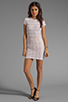 Image 2 of Dolce Vita Ren Zigzag Crochet Short Sleeve Dress in White