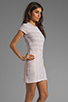 Image 3 of Dolce Vita Ren Zigzag Crochet Short Sleeve Dress in White