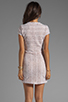 Image 4 of Dolce Vita Ren Zigzag Crochet Short Sleeve Dress in White