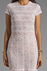 Image 5 of Dolce Vita Ren Zigzag Crochet Short Sleeve Dress in White