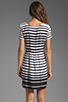 Image 4 of DV by Dolce Vita Adelaide Ascending Stripe T-Shirt Dress in Black/White