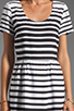 Image 5 of DV by Dolce Vita Adelaide Ascending Stripe T-Shirt Dress in Black/White
