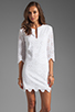 Image 1 of DV by Dolce Vita Charlene Daisy Embroidery Long Sleeve Dress in Snow