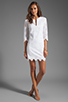 Image 2 of DV by Dolce Vita Charlene Daisy Embroidery Long Sleeve Dress in Snow