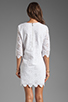 Image 3 of DV by Dolce Vita Charlene Daisy Embroidery Long Sleeve Dress in Snow