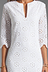 Image 5 of DV by Dolce Vita Charlene Daisy Embroidery Long Sleeve Dress in Snow