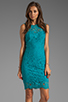 Image 1 of Dolce Vita Tamia Teal Lace Tank Dress in Teal