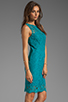 Image 3 of Dolce Vita Tamia Teal Lace Tank Dress in Teal