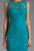 Image 5 of Dolce Vita Tamia Teal Lace Tank Dress in Teal