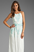 Image 1 of Dolce Vita Rayan Petticoat Embroidery Maxi Dress in White/Mint