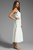 Image 3 of Dolce Vita Rayan Petticoat Embroidery Maxi Dress in White/Mint