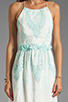 Image 5 of Dolce Vita Rayan Petticoat Embroidery Maxi Dress in White/Mint