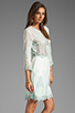 Image 3 of Dolce Vita Valentina Petticoat Embroidery Long Sleeve Dress in White/ Mint