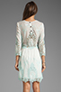 Image 4 of Dolce Vita Valentina Petticoat Embroidery Long Sleeve Dress in White/ Mint