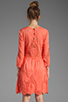 Image 4 of Dolce Vita Valentina Petticoat Embroidery Long Sleeve Dress in Melon