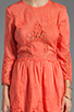 Image 5 of Dolce Vita Valentina Petticoat Embroidery Long Sleeve Dress in Melon