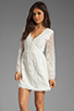 Image 1 of Dolce Vita Jilisa Silk Embroidery Long Sleeve Mini Dress in Snow
