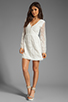 Image 2 of Dolce Vita Jilisa Silk Embroidery Long Sleeve Mini Dress in Snow