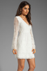 Image 3 of Dolce Vita Jilisa Silk Embroidery Long Sleeve Mini Dress in Snow