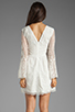 Image 4 of Dolce Vita Jilisa Silk Embroidery Long Sleeve Mini Dress in Snow