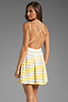 Image 1 of DV by Dolce Vita Hanni Ascending Stripe Mini Dress in Yellow/White