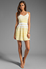 Image 2 of DV by Dolce Vita Hanni Ascending Stripe Mini Dress in Yellow/White