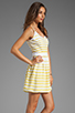 Image 3 of DV by Dolce Vita Hanni Ascending Stripe Mini Dress in Yellow/White