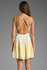 Image 4 of DV by Dolce Vita Hanni Ascending Stripe Mini Dress in Yellow/White