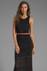 Image 1 of DV by Dolce Vita Lynnie Jersey Burnout Maxi Dress in Black