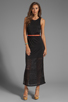 Image 2 of DV by Dolce Vita Lynnie Jersey Burnout Maxi Dress in Black